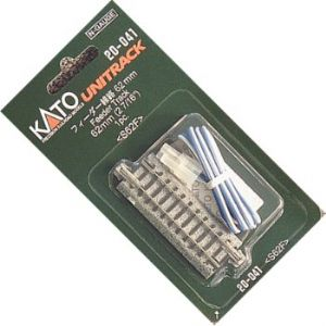 Kato 20-041 Ground Level Straight Power Feeder Track, 62mm